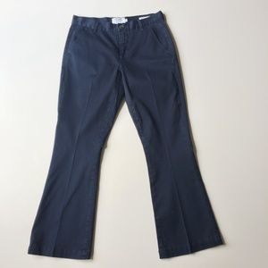 FRAME Le Crop Mini Boot Navy Chino Pants Size 26